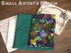LIBERTYリバティプリント手づくりキット《がま口バッグ》タナローン生地 Small Artist's Bloom<スモール・アーティスツ・ブルーム>